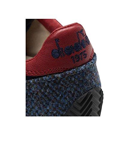 Diadora Heritage, Uomo, Sac À Dos Tweed En Tissu Bleu, Pelle / Suede, Sneakers, Blu