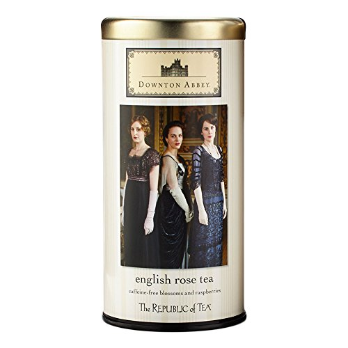 Downton Abbey Shopping Bag (The Republic of Tea Downton Abbey Premium English Rose Tea, 36 Tea Bags, Rose Hibiscus,)