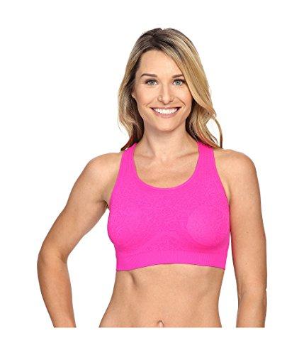 - Fila Women's Running with Roses Seamless Bra Pink Glo Jacquard Bra SM