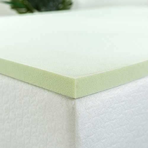 Zinus 1 5 Inch Green Tea Memory Foam Mattress Topper King