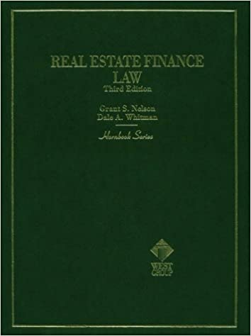 Real estate finance law hornbook series grant s nelson dale a real estate finance law hornbook series grant s nelson dale a whitman 9780314034533 amazon books fandeluxe Image collections