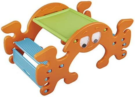 ECR4Kids Phanty Pic-N-Rock Indoor Outdoor Multipurpose Picnic Table and Seesaw for Kids