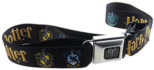 Classic Kids Belt (Harry Potter Seatbelt Belt Full Classic Logo with Crests)