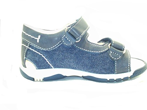 Nero Giardini Junior , Sandales pour garçon blu jeans bianco