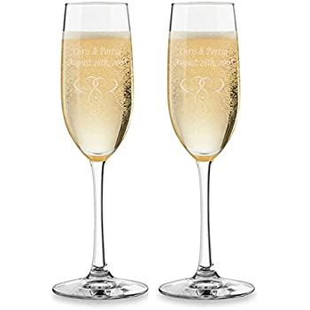 Amazon Engraved Champagne Glasses