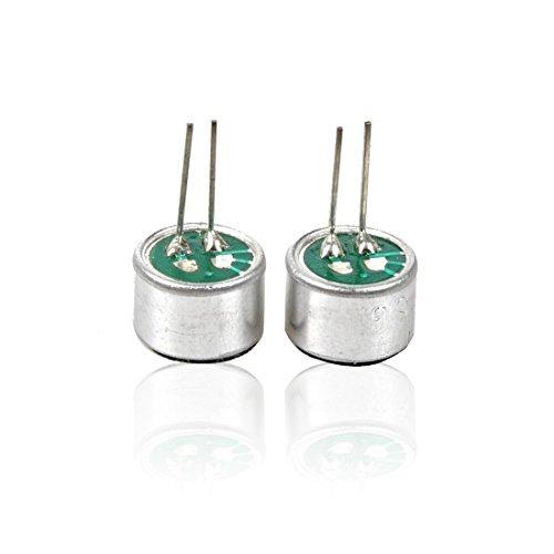 10 partes Omni direcional PCB Mount 9,7 milímetros condensador microfone electreto, 50 a 41dB 16000Hz