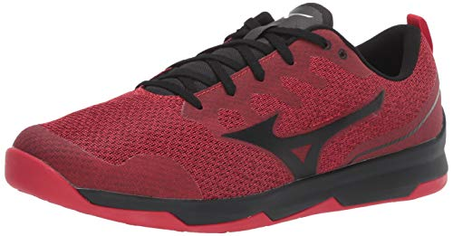 Mizuno Men's TC-02 Cross Training Shoe, Cross Training Sneakers for all forms of Exercise, Red-Black, 8.5 D ()