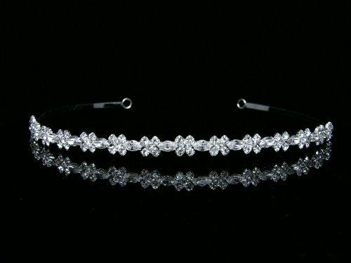Venus Bijoux Femme élégante de mariage Strass Cristal Bandeau Tiare de mariage Venus Jewelry SAMKY-T254