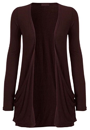 42 40 Size ML Marron Color Cardigan Femme longues manches haut Hanger Hot Bwvxzq8Ax