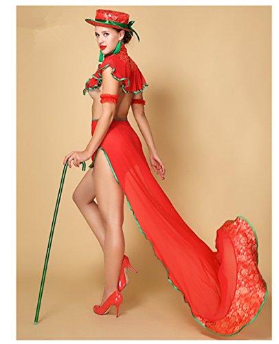 Bear boys European Sexy Lingerie Underwear Mermaid Fun Dovetail Dress Cheongsam & Arm Band & hat & Thong & Collars & Shawl ()