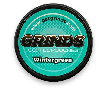 (Grinds Coffee Pouches - 3 Cans - Wintergreen - Tobacco Free Healthy Alternative)