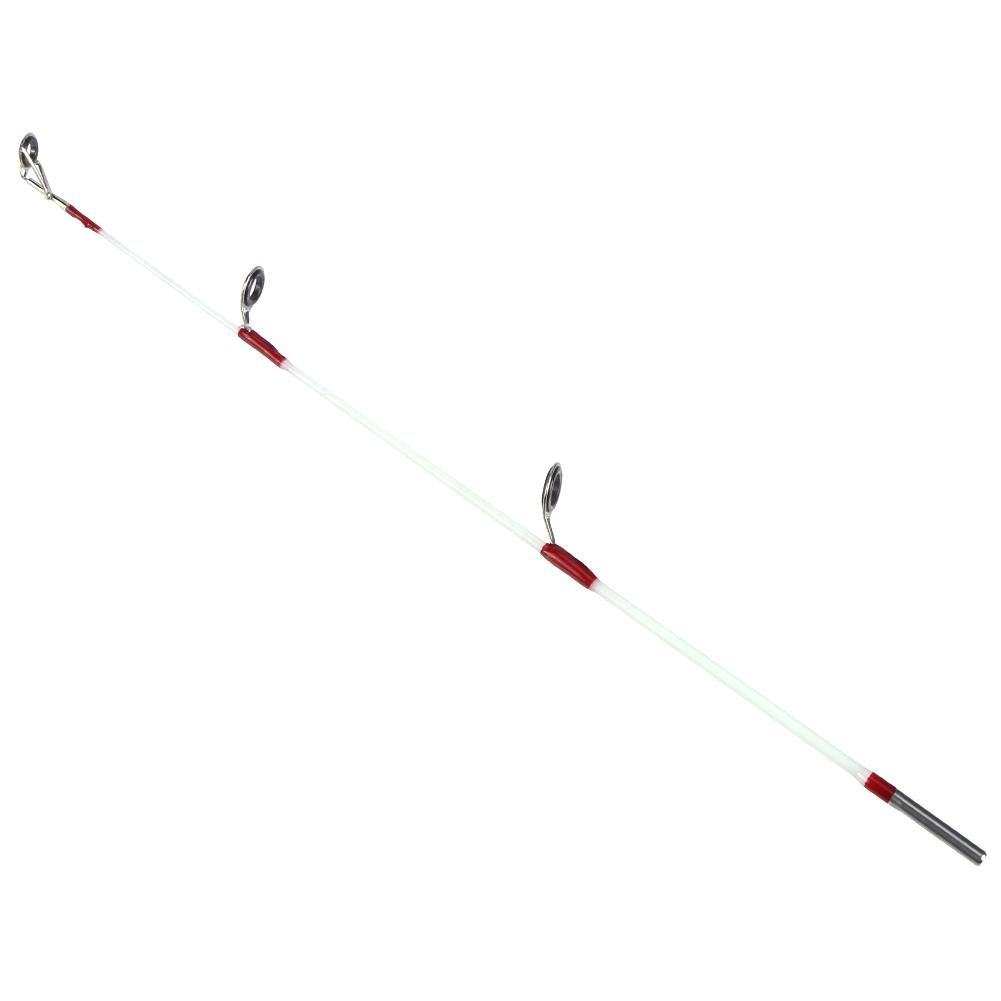 Aoewsie Tragbare Reise-Angelrute 30 cm Fiberglas FRP Eisgarnelen Angeln Spitze Angelzubeh/ör f/ür Reisen Salzwasser S/ü/ßwasser Angeln