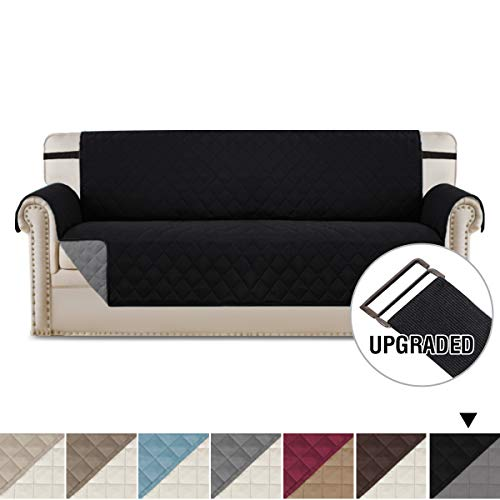 H.VERSAILTEX Sofa Covers for 3 Cushion Couch Reversible Quilted Furniture Protector, Water Resistant Pet Sofa Protector Sofa Slipcover, Improved Anti-Slip with 2