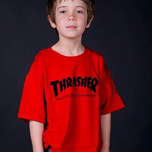 Thrasher Magazine Mag Logo Black Youth T-Shirt - Youth Large
