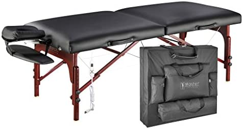 Master Massage 31 Montclair Therma-Top Portable Massage Table with Memory Foam Package,Black