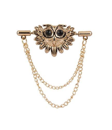 Knighthood Men's Gold Lucky Owl Brooch/Lapel Pin Golden ()