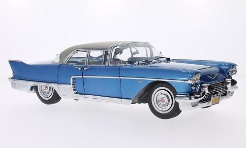 Cadillac Eldorado Brougham, metallic-blue/silver, 1957, Model Car, Ready-made, Sun star 1:18