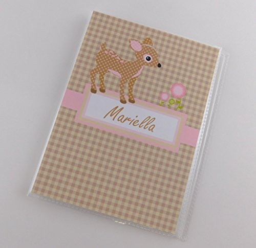 Baby Photo Album IA#856 Grandmas Brag Book Girl Gift Woodland Deer Forest Animal Creature 4x6 or 5x7 Pictures Shower Advice Cards Month by Month by JaDazzles
