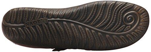 Naot Womens Tane Mary Jane Platte Pecan Bruin Leder / Koffieboon Nubuck / Crazy Horse Leer / Bruine Shimmer Nubuck