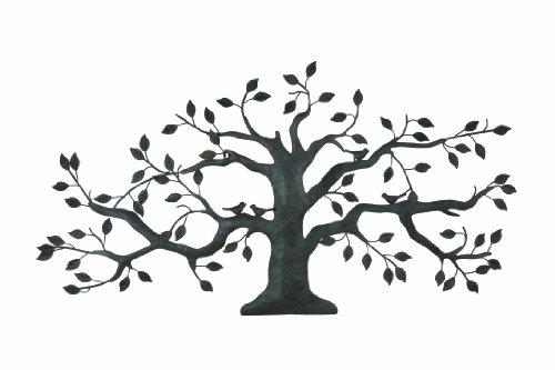 Creative Co-Op Black Metal Tree Plaque with Birds