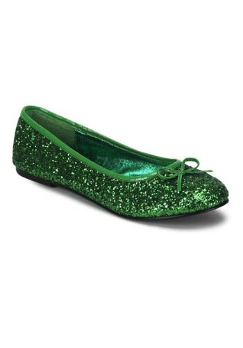 Funtasma by Pleaser Women's Star-16G Flat,Green Glitter,9 M US -