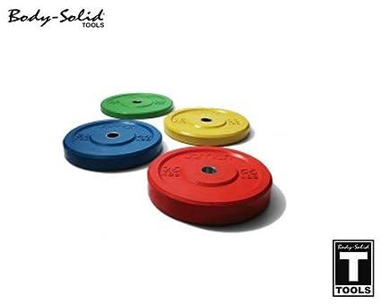 Body-Solid Rubber Bumper Olympic - Disco para Pesa, Color Amarillo ...
