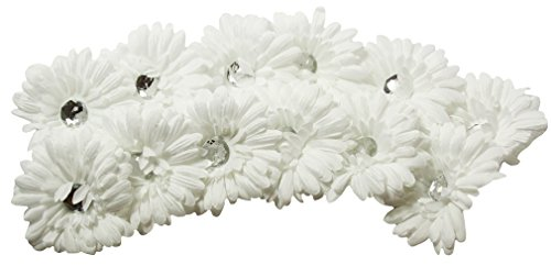 Crystal Gerbera Daisy Flower Heads/Tops - NO CLIP ATTACHED - Per Dozen (Le Top Daisy)