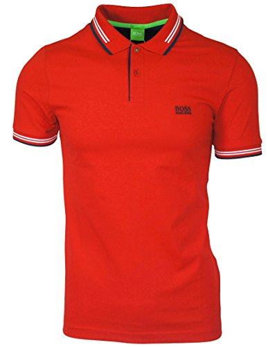 BOSS Green Paul Polo Shirt in Red L
