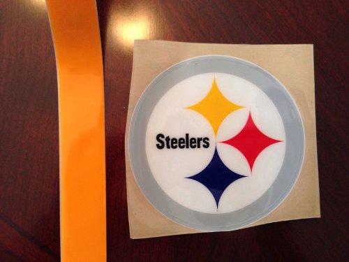 Authentic Pittsburgh Steelers Full Size Football Helmet Decals Troy Palomalu (Pittsburgh Steelers Helmet Decal)