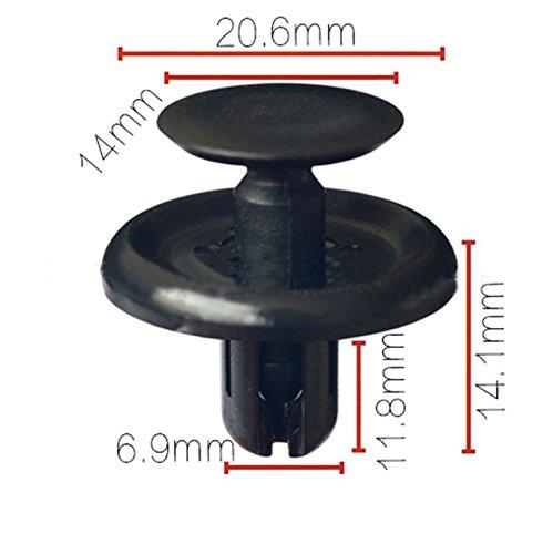 Tuqiang/® Car Nieten Innent/ürverkleidung und Panel Clips passen Lochdurchmesser 7MM 10Pcs