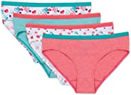 Hanes Girls 4 Pack Tagless Hipster Hipster Panties