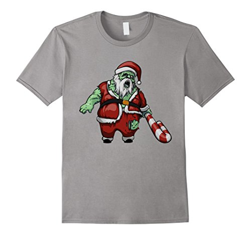 Mens Zombie Santa Scary Christmas Halloween Costume T-Shirt Large (2017 Best Guy Halloween Costumes)