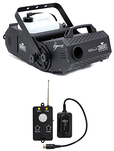 Chauvet HURRICANE H-1800 FLEX Fog Smoke Machine H1800+Transmitter Motion Sensor by Chauvet