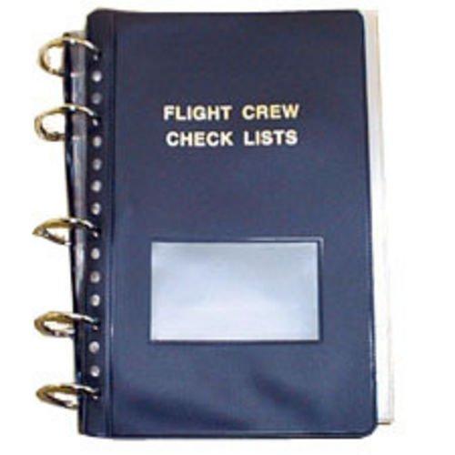 Flight Crew Checklist Binder - 6 Fasteners, 55 Sheet Protectors, - Pilot Binder