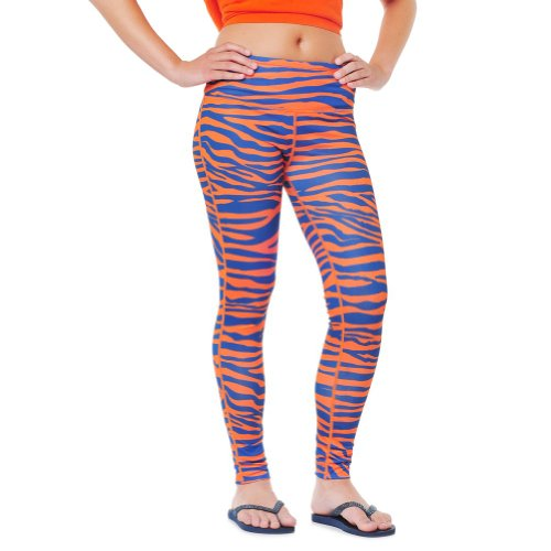 Team Tights Women's Leggings Medium Navy Blue and Orange ()