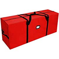 AerWo Large Christmas Tree Storage Bag- Fits Up to 8 Ft Holiday Xmas Disassembled Trees, Heavy Duty Canvas Storage…
