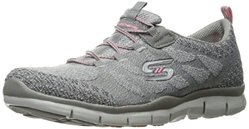 Chic Scarpe Sleek Grey Sportive and Donna Gratis Active Skechers EXqIvv