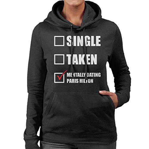 Hilton Dating Mentally Coto7 Sweatshirt Paris Hooded Black Women's qwtZrZ5a