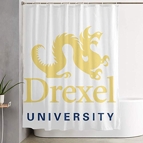 LETEPRO 60 X 72 Inch Drexel University Shower Curtain Set, Shower Curtains Collection - Bathroom Accessories Polyester Fabric