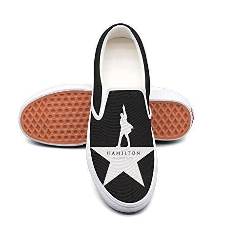 Shoes Broadway (Women's Slip-on Loafer Musical Logos Fashion Sneaker Casual Flat Walking Shoes Round Toe)