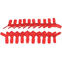 UUMART KingKong 2345(58mm) 3-Blade Propellers (10CW,10CCW) For 11 Series Motors-Clear Red