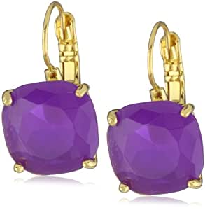 """kate spade new york """"Essentials"""" Purple Small Square Lever Backs Earrings"""