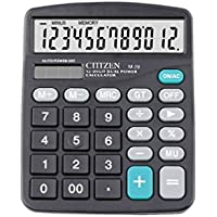 Calculator, AmanStino Large Electronic Desktop Calculator - Battery & Solar Powerd Standard Function Desktop Business Calculator with LCD Display Screen for Home & Office Use