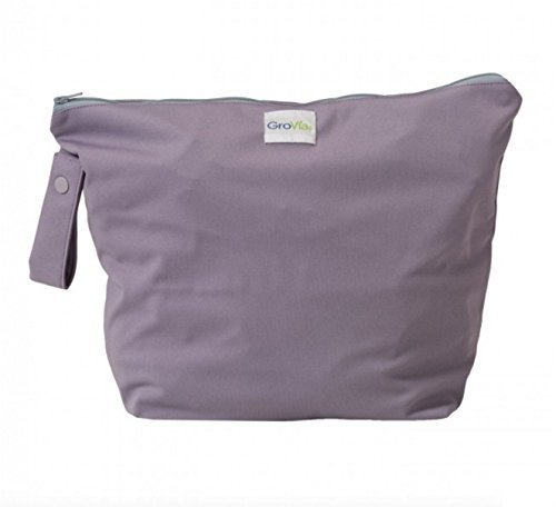 GroVia Reusable Zippered Wetbag for Baby Cloth Diapering and More (Haze)