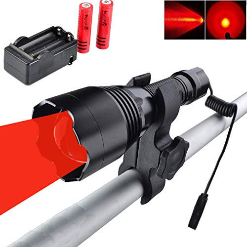 WINDFIRE WF-360R Red Hunting Light Tactical LED Flashlight 350 Yards