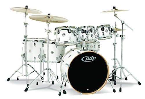 Pacific Drums & Percussion PDCM2217PW PDP CM7 Concept Maple 7-Piece Drum Shell Pack - Pearlescent White
