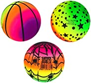 BESPORTBLE Rainbow Balls PVC Playground Balls for Kids Sports Games Handballs Dodgeball Kickball for Kids Adul