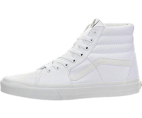 Vans Sk8-Hi Sneakers (True White) Men's High-Top Shoes, 7.0 M Men (Hi Vans Sk8)