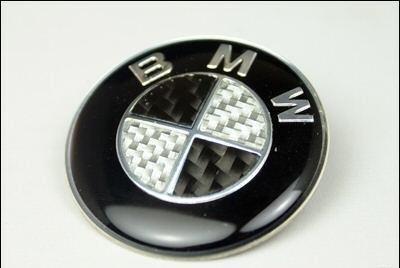 [해외]BMW 스티어링 휠 엠블럼 블랙 화이트 EMB-SW BMW 1 by AA/BMW STEERING WHEEL EMBLEM Black White EMB-SW BMW 1 by AA