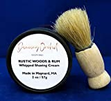 Rustic Woods l Rum l Whipped l Shaving Cream l Brush l Gift l Eliminate Razor Burn l Anti-oxidants l Green Tea l Clay l Healing l Soothing